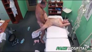 Cute store nurses sucking a patient