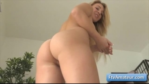 Big ass babe has her tight pussy pulled and fucked by her horny boyfriend