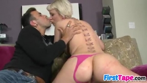 Cherry Torn is getting fresh cum inside her dirty mouth after fucking her landlord