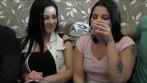 Slutty girls gangbanged by friends